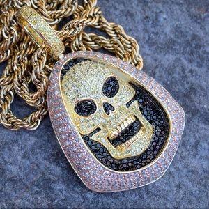 Gold Skelotor Pendant Necklace